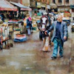 Desmond O'Hagan, Dublin Market, Ireland, pastel, 18 x 24.