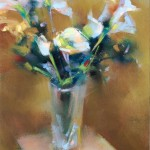 Desmond O'Hagan, Floral Still Life, pastel, 9 x 12.