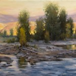 Mitch Baird, Gros Ventre Sundown, oil, 24 x 48.