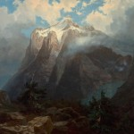 Albert-Bierstadt, Mount Brewers from King&#039;s River Canyon, California 1872, Heritage Auctions.