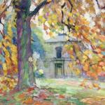 Joseph Morris Raphael, Autumn Rue England (Uccle, Belgium), oil, 30 x 35, George Stern Fine Arts.