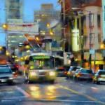 Desmond O'Hagan, North Beach, San Francisco, pastel, 18 x 24.