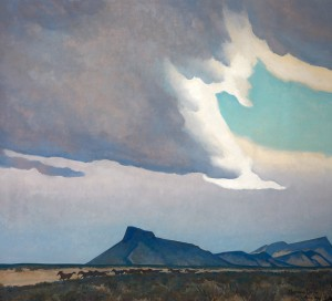 Maynard Dixon, Oncoming Storm, Santa Fe Art Auction.