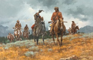 Howard Terpning, Advance of the Long Knives, Santa Fe Art Auction.