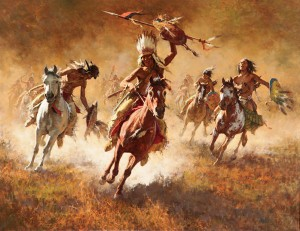 Howard Terpning, Mystic Power of the War Shield, Scottsdale Art Auction.