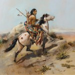 Charles M. Russell, Indian Scout on Horseback, Scottsdale Art Auction.
