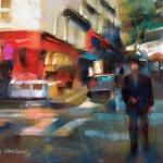 Desmond O'Hagan, Southern France, pastel, 9 x 12.