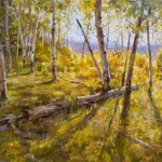 Mitch Baird, Ridge Top Gold, oil, 24 x 36.