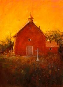 Tom Perkinson, San Augustine, pastel, 16 x 12.