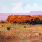 Tom Perkinson, Wild Horses at Red Mesa, watercolor/mixed media, 29 x 39.