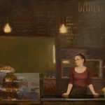 Aimee Erickson, Front Counter, oil, 35 c 40.