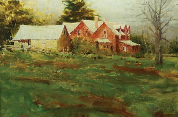 James Biggers, Springtime, oil, 20 x 30.