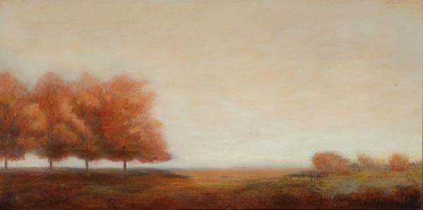 Jamie Kirkland, In the Lineup, oil, 24 x 48.