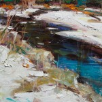 Kevin Beilfuss, Winters Thaw #1, oil, 10 x 8.