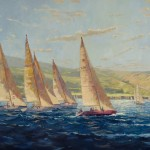 Debra Huse, California Spring Regatta, oil, 48 x 60.