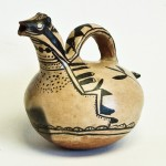 Cochiti Polychrome Effigy Pitcher, circa 1920, clay, 10 x 8 x 9.