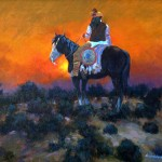 Doug Candelaria, Apache Sundown, oil, 16 x 20.