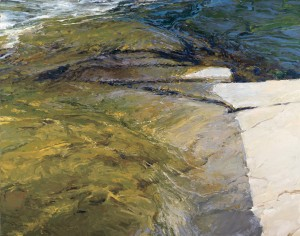 Len Chmiel, Gold Rush, Yuba River, oil, 444 x 56.