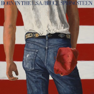 Carl Kunz, Bruce Springsteen: Born in the U.S.A., oil, 36 x 36.
