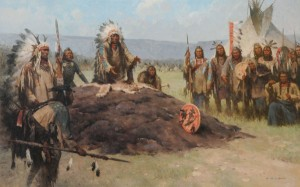 Z.S. Liang, The Ultimate Decision, Heads or Tails, oil, 30 x 60.
