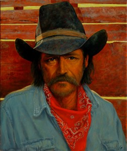 Dan Bodelson, New Mexico Cowboy, oil, 24 x 20.