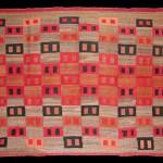 Navajo manta, c 1890, wool, 41 x 50.