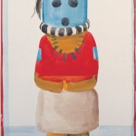 Georgia O'Keeffe, Blue-Headed Indian Doll, watercolor/graphite, 21 x 12.