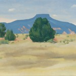 Georgia O'Keeffe, Ghost Ranch Landscape, oil, 12 x 30.