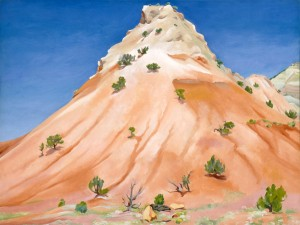Georgia OKeeffe, Hill, New Mexico, oil, 30 x 40.
