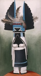 Georgia OKeeffe, Kachina, oil, 22 x 12.