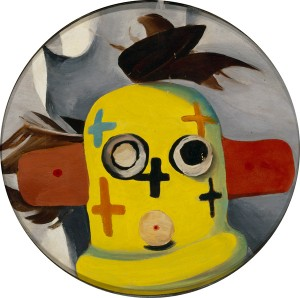 Georgia OKeeffe, Pauls Kachina, oil, 8 x 8.