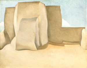 Georgia O'Keeffe, Ranchos Church No. 1, oil, 19 x 24.