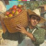 Scott Tallman Powers, Daily Harvest, oil, 24 x 28.