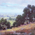 Debra Huse, Sonoma Vista to San Francisco Bay, oil, 12 x 16.
