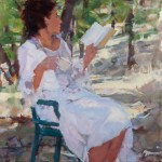 Ilene Gienger-Stanfield, Distracted, oil, 24 x 18.