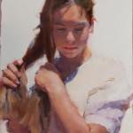 Ilene Gienger-Stanfield, Farmer's Daughter, oil, 24 x 18.