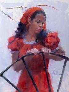 Ilene Gienger-Stanfield, Peasant Dress, oil, 24 x 18.