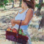 Ilene Gienger-Stanfield, Summer's Gift, oil, 24 x 18.