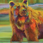 Nancy Cawdrey, Wonder Bear, dye on silk, 31 x 23.