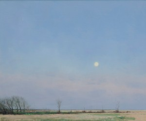 Ben Bauer, Spring Moonrise in South Dakota, oil, 24 x 29.