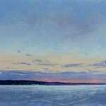 Ben Bauer, White Bear Lake at Dawn (Winter) oil, 26 x 32.