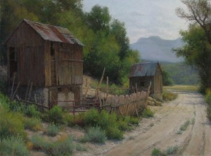 D. LaRue Mahlke, Patchwork, pastel, 18 x 24.