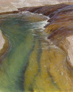 D. LaRue Mahlke, Living Waters, pastel, 30 x 24.