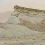 D. LaRue Mahlke, Sandcastle, pastel, 16 x 17.