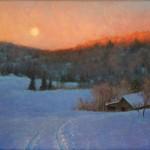 Eleinne Basa, Valley Moonrise, oil, 20 x 24