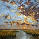 Kevin LePrince, Cooling Kiawah, oil, 40 x 30.