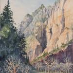 Robert Dalegowski, Early Snow, watercolor, 12 x 9.