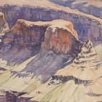 Robert Dalegowski, Shadow of Cheops, watercolor, 9 x 12.
