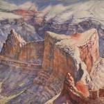 Robert Dalegowski, Dana Butte, watercolor, 9 x 12.