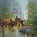 G. Harvey, The Land of Faith and Freedom, oil, 30 x 24.